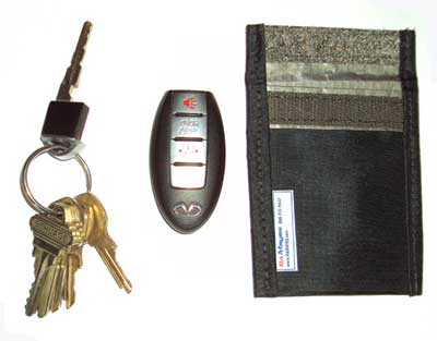 Remove your emergency key from your FOB