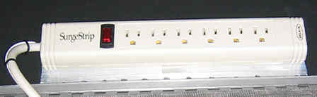 Six Outlet, Filtered & Surge Protected Power Strip Inside