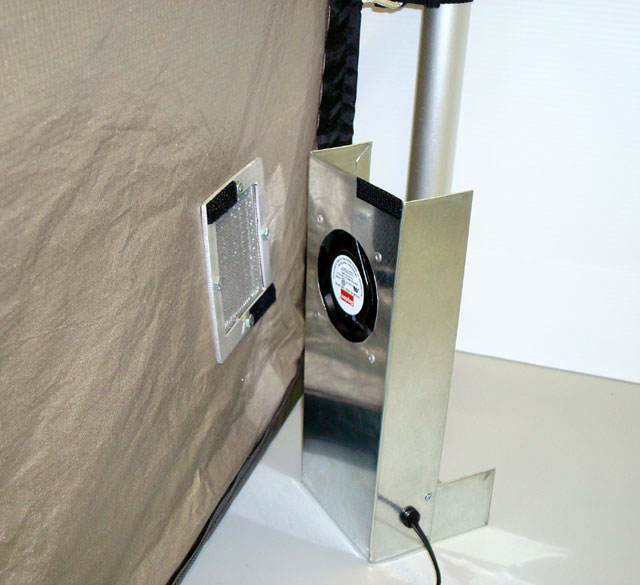 RA Mayes   RF Shielded Tent, EZ-Up Frame