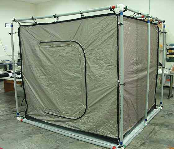 for structures up to 80 x 80 x 80h get quote emi shielded tent with external pvc frame