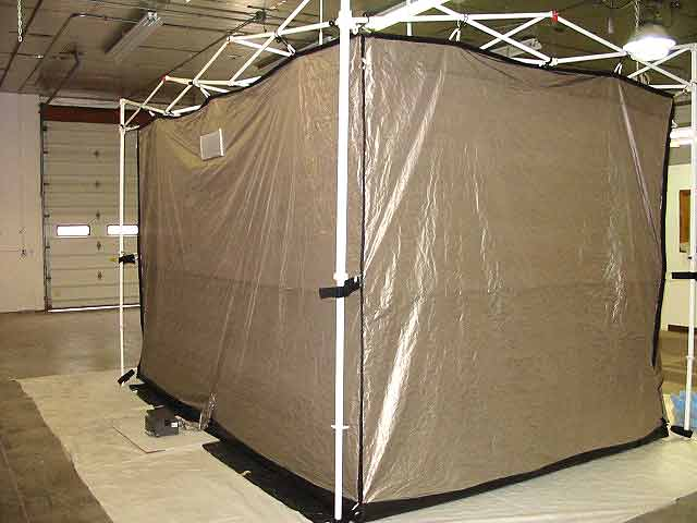 EMI Shielded Tent Standard Features & RA Mayes | RF Shielded Tent EZ-Up Frame