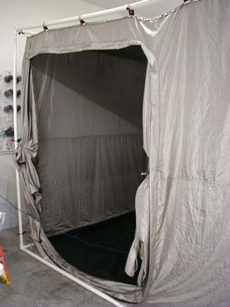 RF Shielded Tent with External PVC Frame