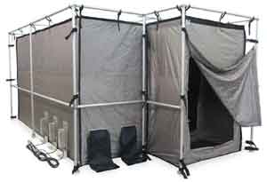 Construction Tents Enclosures : Ra mayes sfi high security rf shielded tents ez up frame